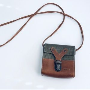 90's Vintage Esprit Mini Crossbody Coin Purse